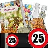 Zahl - 25 | Geschenkset Likör DIY | 25 Geburtstag Geschenke Männer