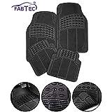 Fabtec Car Foot Mat Floor Mate Black PVC Rubber Universal Fit for Car