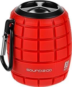 Sound2Go COSMO - Bluetooth 3.0 haut-parleurs avec la technologie NFC, haut-parleur et micro SD slot - Rouge