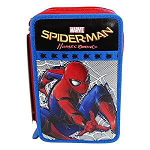 Seven DC Comics Spiderman Home Coming Estuche Escolar Làpices de Colores Plumier Triple para Ninos