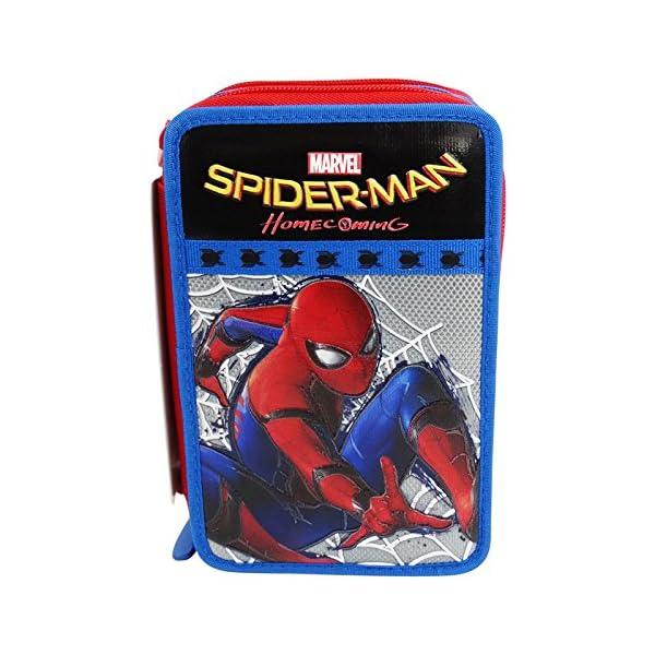 Seven DC Comics Spiderman Home Coming Estuche Escolar Làpices de Colores Plumier Triple para Ninos