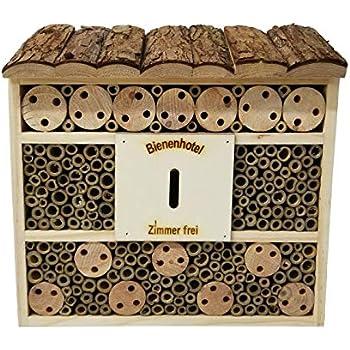 /& Artenschutz/f/ür Zuhause Nistkasten/Haus/N/ützlingshotel Gelebter Natur Insektenhaus Naturmaterialien bambuswald/© 2 St/ück Insektenhotel 29,5 x 10 x 28,5 cm Bienenhotel Unterschlupf f/ür Insekten