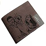 Personifizierte Mens Fotomappen-Leder-Geldbörse - EIN Personalisiertes Vatertag/EIN Weihnachts-/Geburtstagsgeschenk für Männer und Vati (Dunkelbraun)