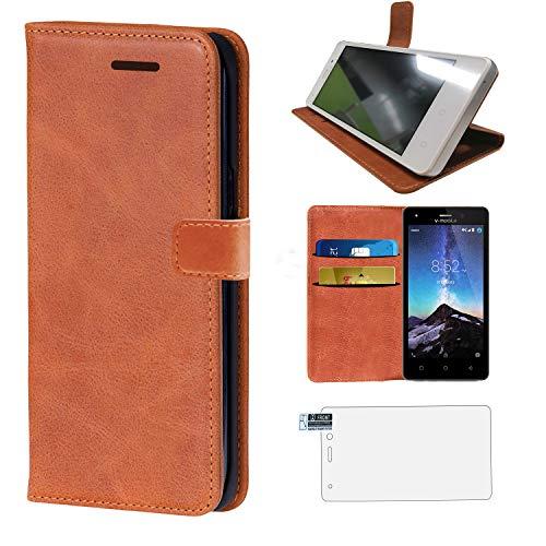 Coque Smartphone V Mobile A10 V Mobile A11 Spiphone A10 Pro Housse En Cuir Premium Flip Case Portefeuille Etui (Housse En Cuir)