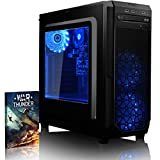 VIBOX Gaming PC - Kaleidos LA10-11 - 4.3GHz AMD A10 Quad-Core CPU, Desktop Computer with Game Bundle, Remote RGB LEDs and Lifetime Warranty* (Super Fast AMD A10-7890K Quad 4-Core CPU Processor, 16GB DDR3 1600MHz High Speed RAM Memory, 1TB (1000GB) Sata III 7200rpm Hard Drive HDD, 85+ Rated PSU Power Supply, CIT Prism Black Gaming Case, FM2+ Motherboard, No Operating System Installed)