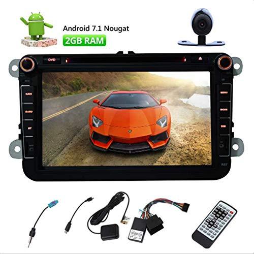 EINCAR Android 7.1 Nougat Auto-DVD-Player Special für VW Passat Golf 8 '' Touch Screen 2 Din Car Stereo GPS In Navigation Dash Head Unit AM FM Radio-Empfänger-Unterstützung WiFi / 1080P / Spiegel-Lin