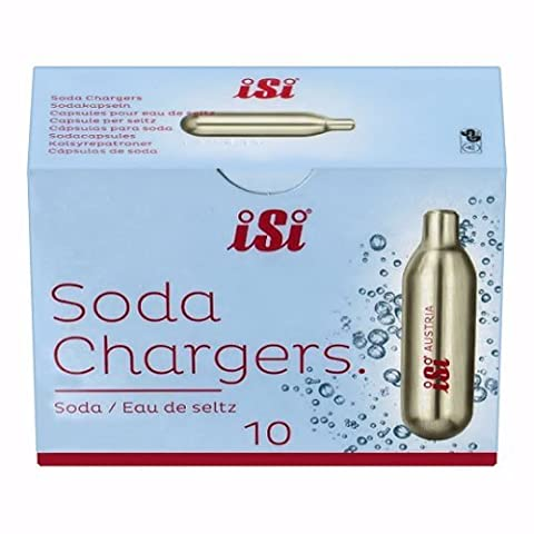iSi 8 gram Soda Chargers- Case of 300 (30 packs of 10 CO2 chargers)