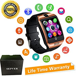 Smart Watches SN06 Smartwatch Unlocked Watch Cell Phone With Camera Touch Screen Sim Card Slot Pedometer Fitness Tracker For ios iPhone Android Samsung LG HTC Huawei Xiaomi Sony Men Women Kids (Gold)
