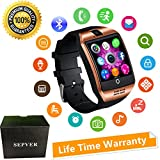 Smartwatch mit Kamera Touchscreen Wasserdicht Smart watch mit Sim Card Slot Facebook Whatsapp Schrittzähler Fitness Tracker Intelligente Armbanduhr Kompatibel ios iPhone Android Handys Damen Herren Kinder (Gold)