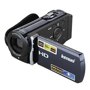 Kenuo DV HD 1080P Caméscope numérique caméra vidéo numérique 270° Rotation CMOS 5.0MP avec 3.0 TFT LCD Écran avec 16x Zoom Fonction FHD en option 1920 x 1080/ HD1280 x 720/VGA 640 x 480-Bleu