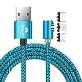 2m Magnétique Câble 90 Degrés Type C iOS Micro USB 3 in 1 Câble De Recharge...