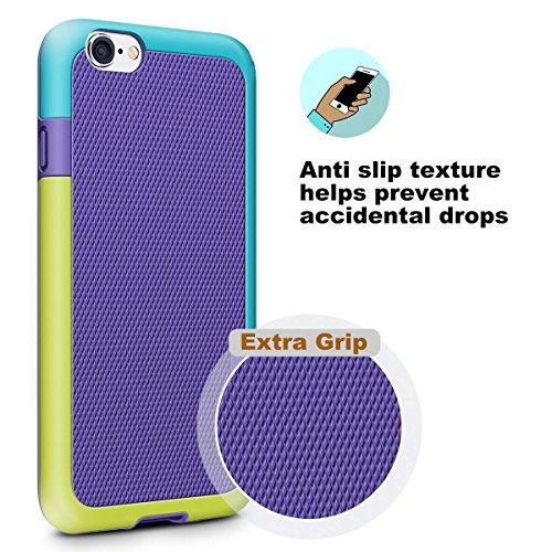 iPhone 8 Hülle, iPhone 7 Hülle, Pasonomi [Outdoor] [stoßdämpfend] Silikon Tasche Schutzhülle Case Cover für Apple iPhone 8 & iPhone 7 4.7 zoll (Lila) Lila
