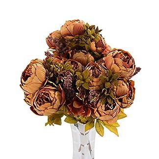 gzzebo 1 Ramo 13 Cabezas de Flores de Seda de peonía Artificial para Boda Fiesta decoración del hogar