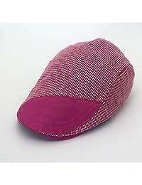 GR Sombrero de Boinas de Moda Gorras Planas para Mujeres Gorras para Hombre  a Cuadros Duckbill c73e3c7d81d
