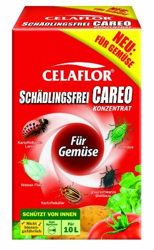 Celaflor Schädlingsfrei Careo Konzentrat Gemüse, Vollsystemisches Mittel mit schneller und breiter Wirkung gegen Blattläus, Zikaden, Weiße Fliege, Raupen, Käfer,...