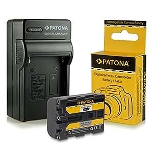 Chargeur + Batterie NP-FM50 / NP-FM55H / NP-QM51 pour Sony Cybershot DSC-F707 | DSC-F717 | DSC-F828, DSC-S30 | DSC-S50 | DSC-S70 | DSC-S75 | DSC-S85 | DSLR-A100 (?100) | MVC-CD200/ MVC-CD250/ MVC-CD300/ MVC-CD350/ MVC-CD400 | MVC-CD500