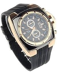Hombres negocios reloj de pulsera - V6 Lujo hombres negocios reloj de pulsera analogico deportes militar casual reloj Oro