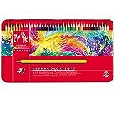 CARAN d'ACHE - SUPRACOLOR Soft Aquarelle Buntstifte in Metallbox - 40 Stück
