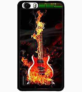 ColourCraft Burning Guitar Design Back Case Cover for HUAWEI HONOR 6 PLUS