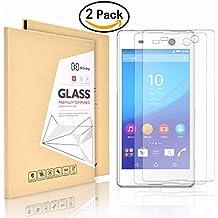 2 Pack Sony Xperia M5 Protector de Pantalla,Didisky® [Toque Suave] Cristal Templado [Fácil de limpiar ] Garantía de por vida