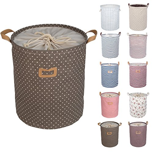 dokehom-dka0811bn-round-cotton-linen-laundry-basket-available-in-10-colours-brown