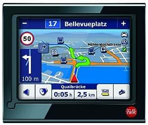 """Falk M8 3e édition GPS  avec TMC Pro Ecran 4,3"""" Carte Europe 44 Bluetooth Guidage sur voies Guidage actif en ville Noir (Import Allemagne)"""