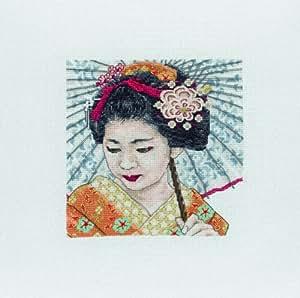 Anchor Maia Kit broderie point de croix Motif geisha
