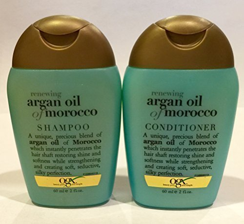 Organix: Purse / Travel Size, Moroccan Argan Oil Shampoo Conditioner, 2 FL OZ (60 mL) each-Combo Pack  available at amazon for Rs.1872