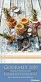 Gourmet Familientermine 2019 - Familienplaner mit 5 Spalten, Küchenkalender  -  23 x 45,5 cm