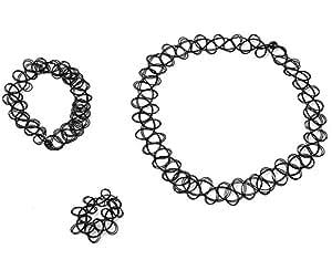 demarkt tattoo choker elastische dehnen hand kette halskette ring armband retro henna vintage. Black Bedroom Furniture Sets. Home Design Ideas