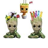 VI AI Groot Flowerpot Guardians, The Galaxy Flowerpot/Pen Holder Action Figures Model Toy Best Toys for Kids - 3