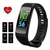 Fitness Tracker,Fitness Armband Uhr mit Herzfrequenzmesser,Hizek Aktivitätstracker,Schrittzähler,SchlafMonitor,Kalorienzähler Fitness Uhr für Android und IOS Smartphones