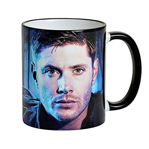 Supernatural Tasse Dean Winchester and the Impala von Elbenwald 320ml Keramik blau