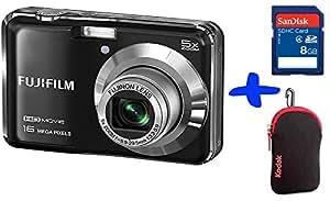 "Bundle: Fuji AX650 Digital Camera in Black + Sandisk SD 8GB + Kodak Neoprene Case (Fujifilm Finepix AX650 Black, 16MP, 5xOptical Zoom, 2.7"" LCD, HD video)"