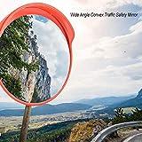 Specchio convesso di sicurezza, Specchio panoramico Stradale, Specchio convesso da traffico in policarbonato Specchio stradale, per la sicurezza stradale e la sicurezza negozio (30CM)