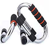 #4: Push-up Bars - Strong Chrome Steel Pushup Stands with Comfortable Foam Grip and Non-Slip Bars - Safe, Sturdy and Less Wrist Strain