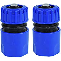 "2 x 1/2"" Quick release Garden Hose Female Pipe Adapter Connector Water Stop"