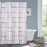 #10: impression PVC Printed Leaf Bathroom Shower Curtain 6 feet with Hooks 180*180 cm(isc-13)