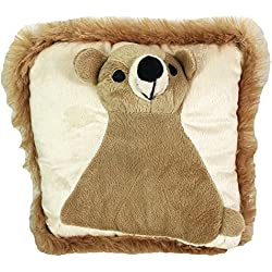 Un Cómodo Cojín infantil–Cojín decorativo (oso de peluche cojín Manta Cojín 24x 24cm