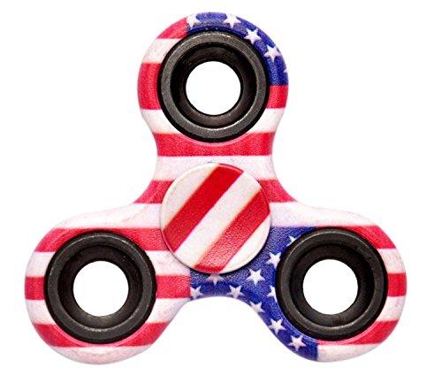 Art N Soul America American Flag Fidget Spinner,Multicolor