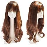 Long ondulés Cheveux synthétiques Décorations avec frange-Couronne de 66cm...