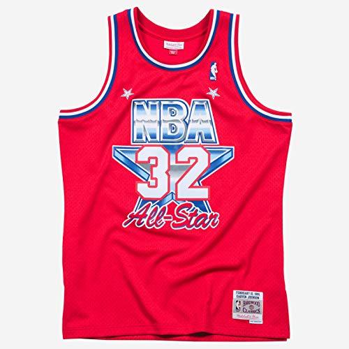 Mitchell & Ness Magic Johnson #32 1991 All-Star West Swingman NBA Trikot Rot, L - All-star-jersey