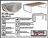 RT250 Schutzhülle für rechteckige Gartentisch, passt am besten am Tisch von max. 240 x 100 cm Schutzhülle für rechteckigen Gartentisch, Abdeckhaube für Gartentisch, Gartenmöbel Abdeckung