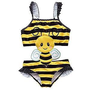 kavkas Traje de baño de una niña Traje de baño de una Pieza Bikini de Dibujos Animados Lindo (12M-8T) 12