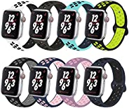 Compatible for Apple Watch Band 38mm 40mm 42mm 44mm,Soft Silicone Sport Band Replacement Wrist Strap Compatibl