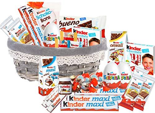 Cesto Regalo Assortimento di Dolciumi Kinder cestino cioccolato calzetta befana