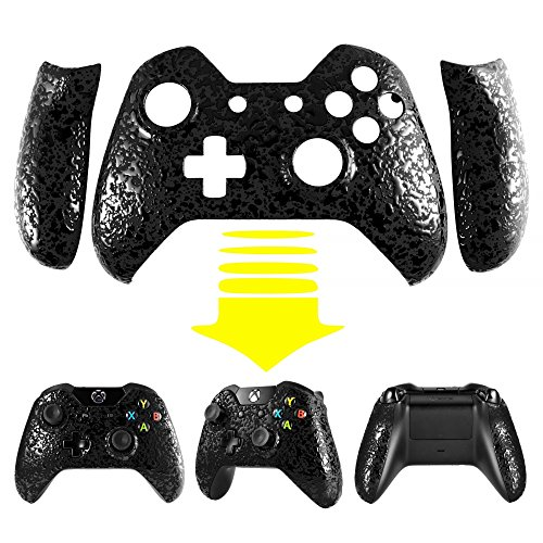 Schutzhülle Obere Case Hülle Cover Oberschale Skin Housing Kit Schale Gehäuse Shell für Xbox One Standard-Controller mit oder ohne 3,5mm-Anschluss (Splatter Schwarz)