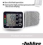 Jukkre Digital LCD Wrist Blood Pressure Monitor High Accuracy Measuring Apparatus Health Care