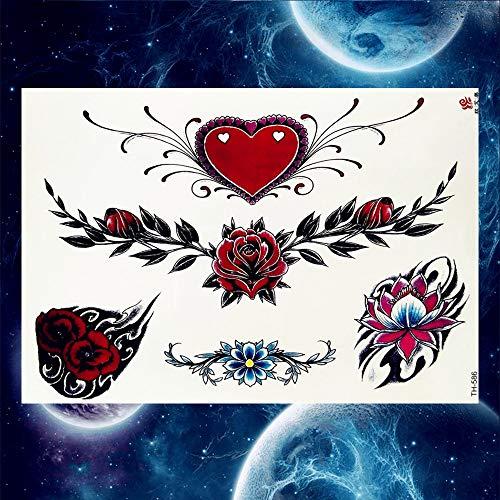 3-arm-tulip (3 STÜCKE Schwarz Tulip Totem Tattoo Aufkleber Weiblichen Körper Taille Arm Kunst Armband Tattoo Temporäre Mädchen)