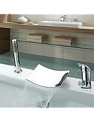 &QQ Todo el cobre, grifo de la bañera, 3 sistemas, grifo separado de la cuenca